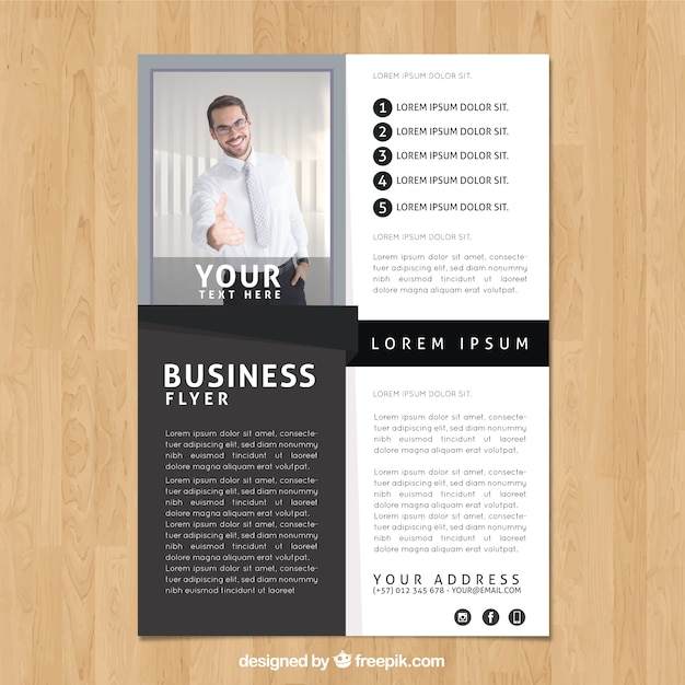 Black and white business flyer template Vector Free Download - black and white flyer template