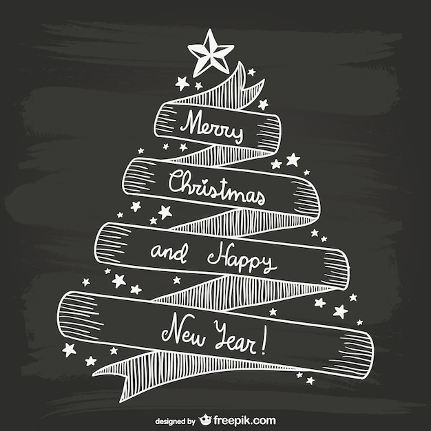 Black and white Christmas card Vector Free Download - christmas cards black and white