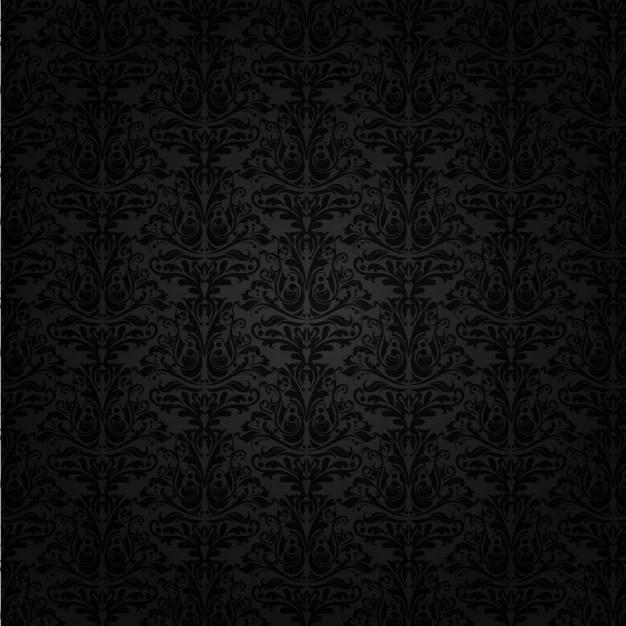 Black Damask Background Vector Free Download