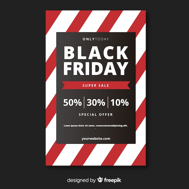 Black friday sales poster template Vector Free Download