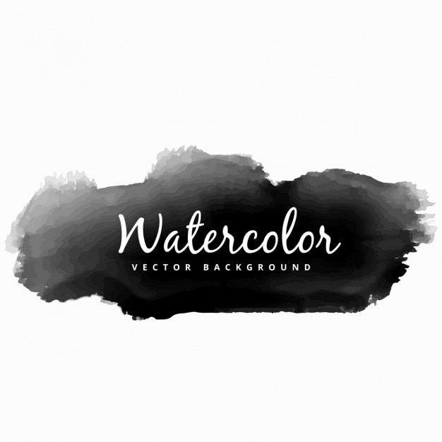 Black watercolor splash Vector Free Download