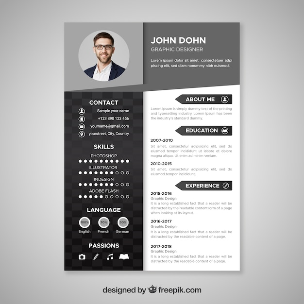 cv in english graphique
