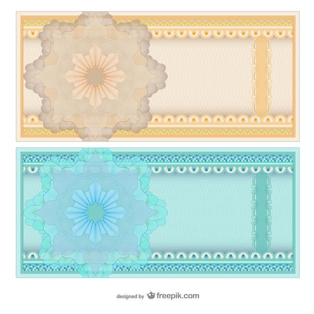 Blank abstract voucher templates Vector Free Download - blank voucher