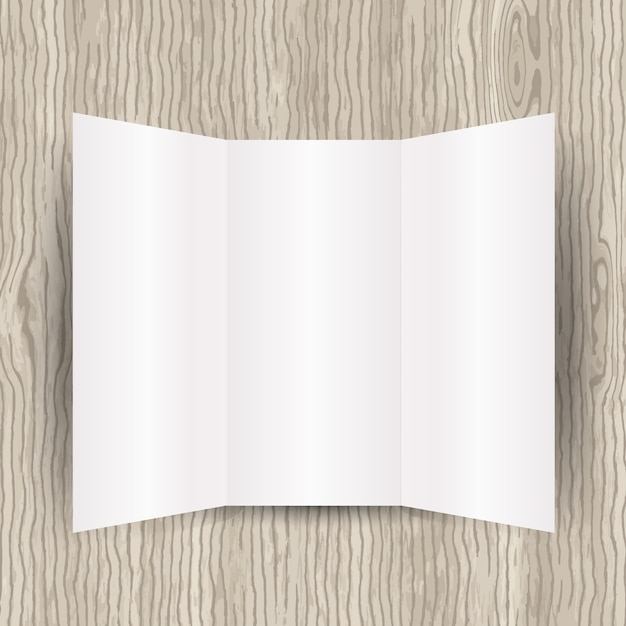 Blank brochure template Vector Free Download
