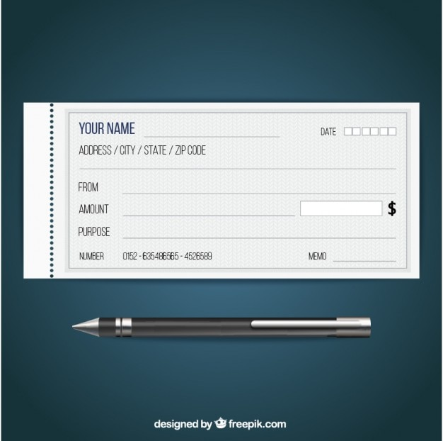 Blank check Vector Free Download