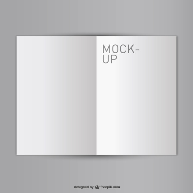 Blank opened book mock-up Vector Free Download - opened book