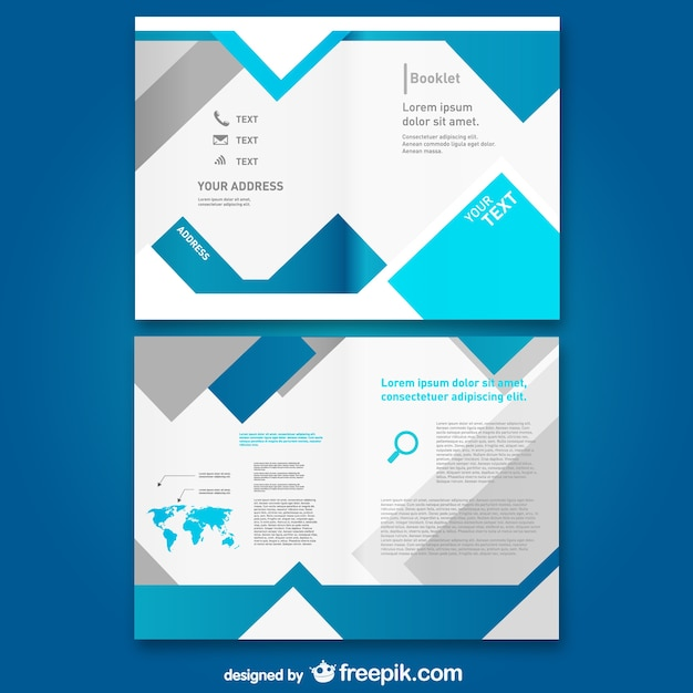 Bloue booklet template Vector Free Download - free pamphlet design