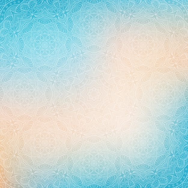 Background Hijau Ornamen Blue Abstract Background With Mandalas Vector | Free Download