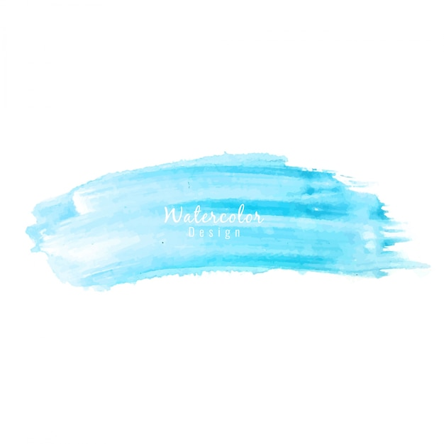 Blue artistic watercolor background Vector Free Download