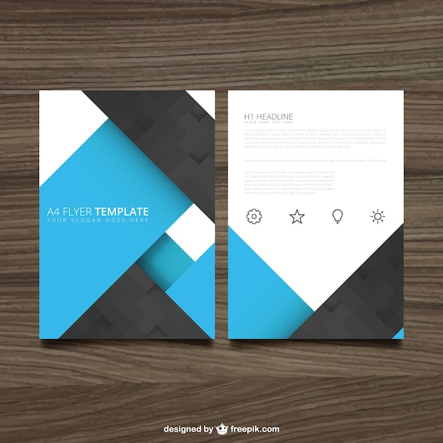 Blue and black brochure Vector Free Download