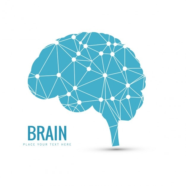 Blue brain background Vector Free Download