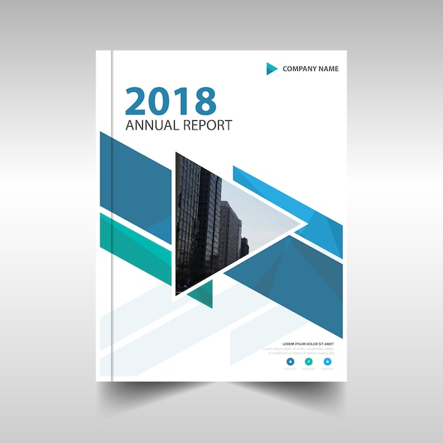 Blue creative annual report template Vector Free Download - annual report template