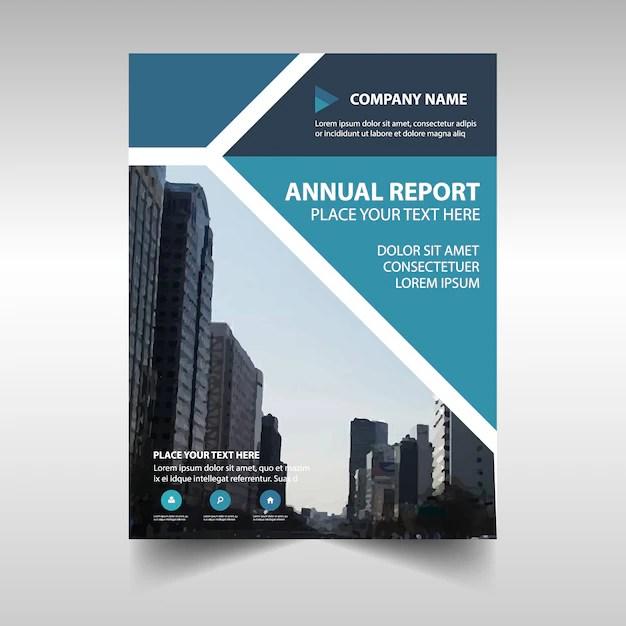 Blue creative corporate annual report template Vector Free Download - free annual report templates