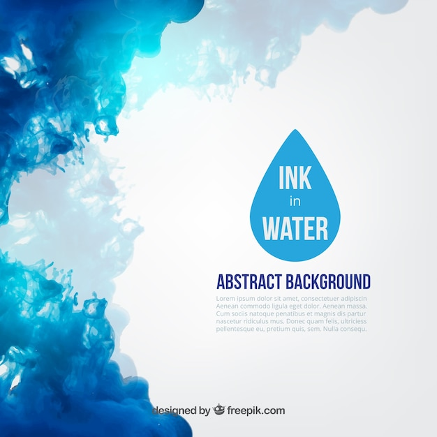 Blue ink in water Vector Free Download