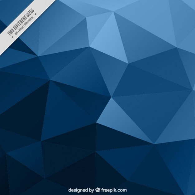 Wallpaper Teknologi 3d Blue Low Poly Background Vector Free Download