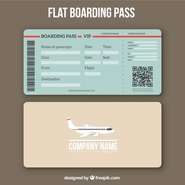 boarding pass template free download - Canasbergdorfbib