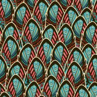 Boho style feathers design Vector | Free Download
