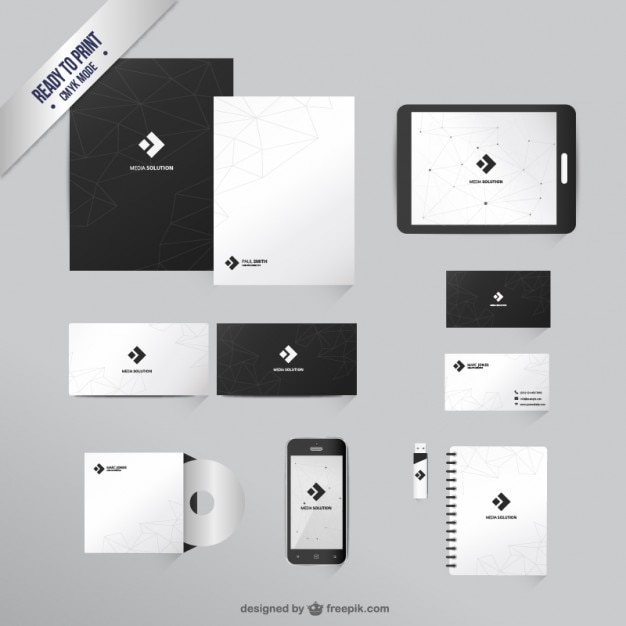 Branding identity template Vector Free Download