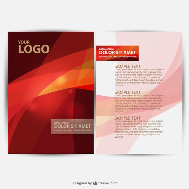Brochure design vector Vector Free Download - flyers design samples