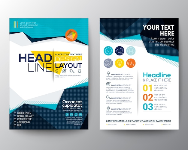 Brochure template design Vector Free Download - template
