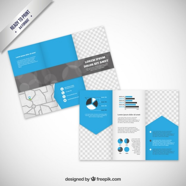 Brochure template in modern style Vector Free Download