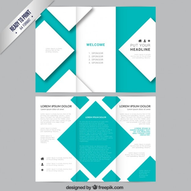 Brochure template with squares Vector Free Download - Company Brochure Templates