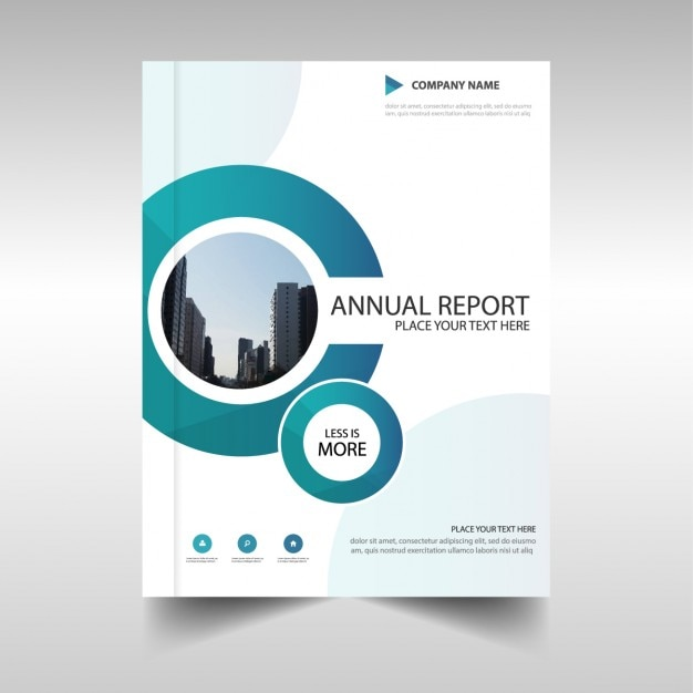 Brochure with circular shapes, annual report Vector Free Download