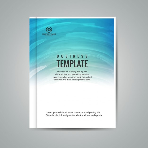 Business booklet template Vector Free Download