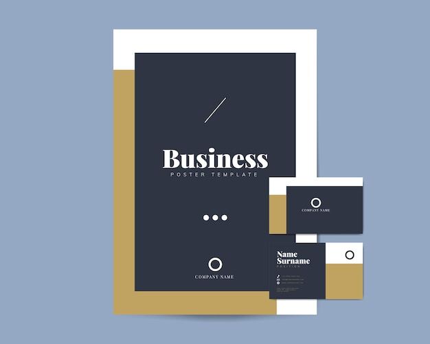 Business brochure and name card templates Vector Free Download
