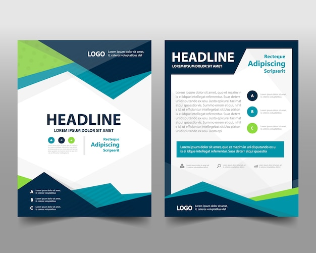 Business brochure template with space for text Vector Free Download