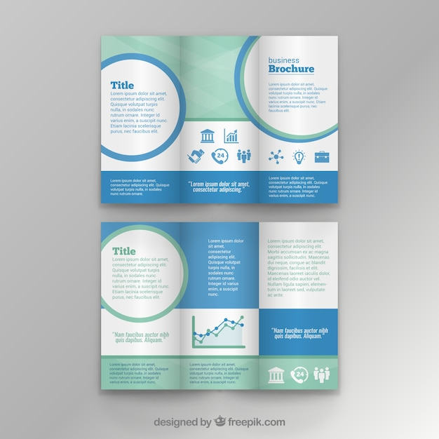 Business brochure template Vector Free Download - business pamphlet templates free