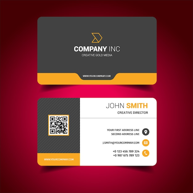 Business card design Vector Free Download - business card sample