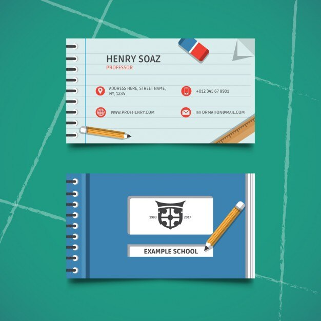 Business card for education Vector Free Download