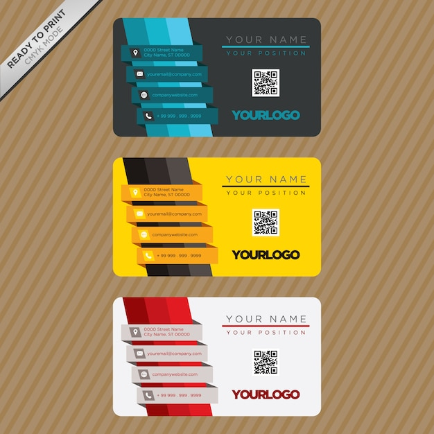 Business card template design Vector Free Download - card design template