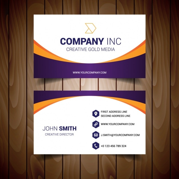 Business card template design Vector Free Download - business card template design