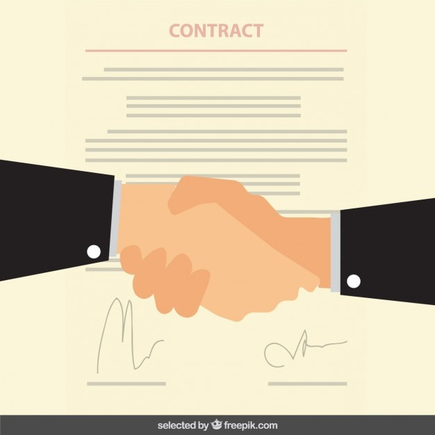 Business contract Vector Free Download - free business contract