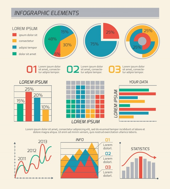 Business diagrams template layout Vector Free Download - diagrams template