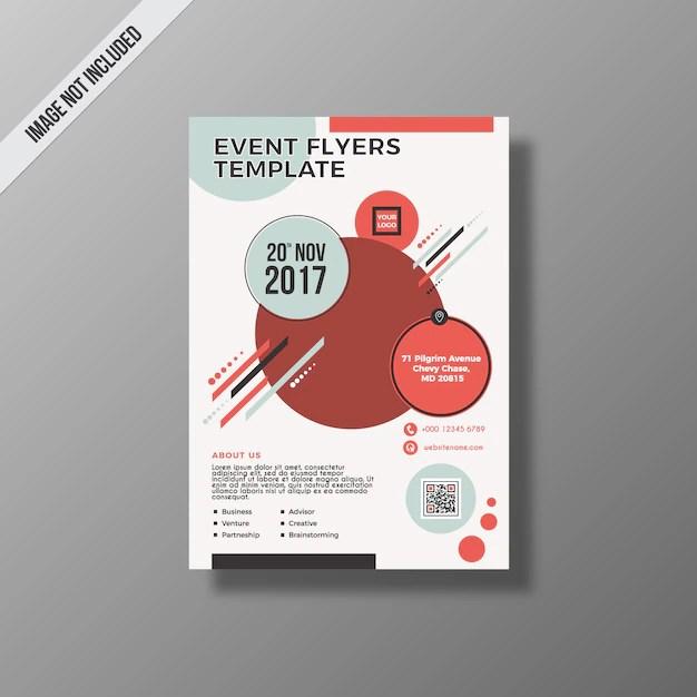 Business event flyer design Vector Free Download