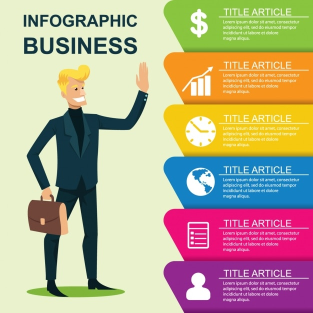 Business infographic template Vector Free Download