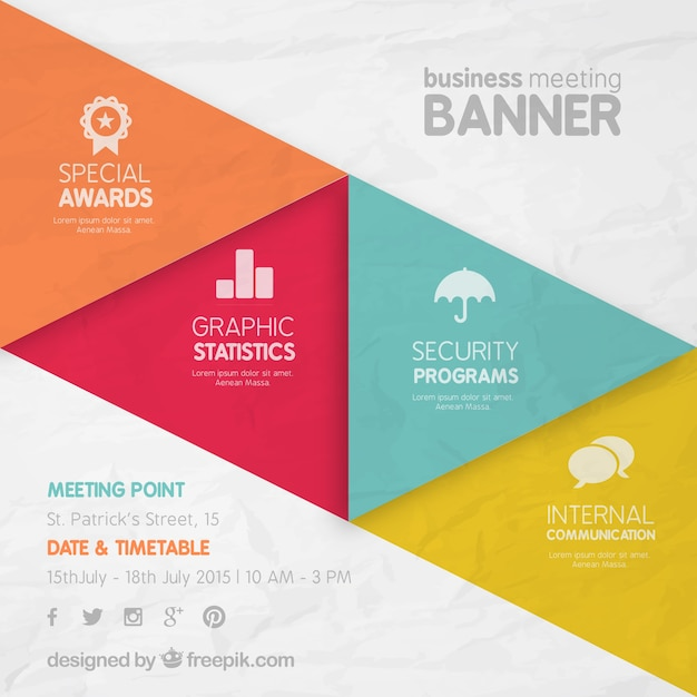 Business meeting banner Vector Free Download