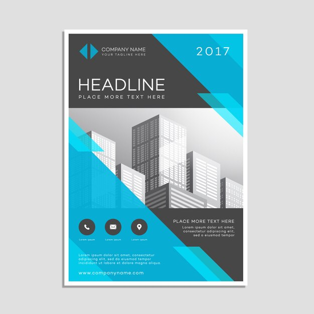 Business poster template Vector Free Download