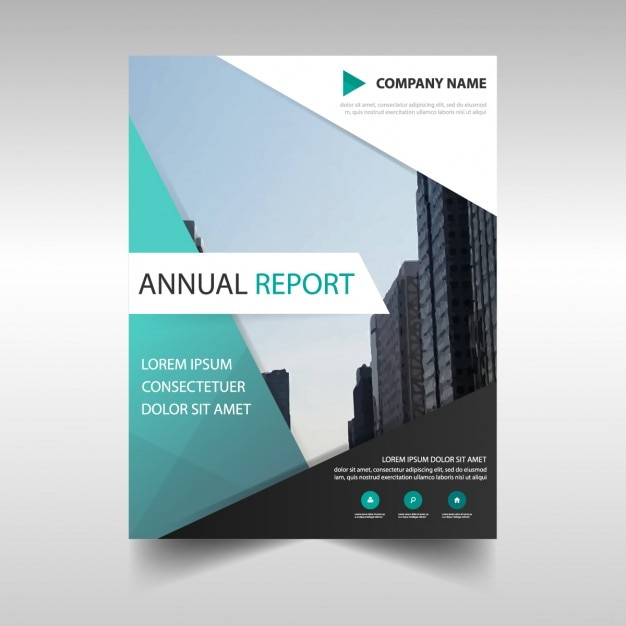 Business report template in abstract design Vector Free Download