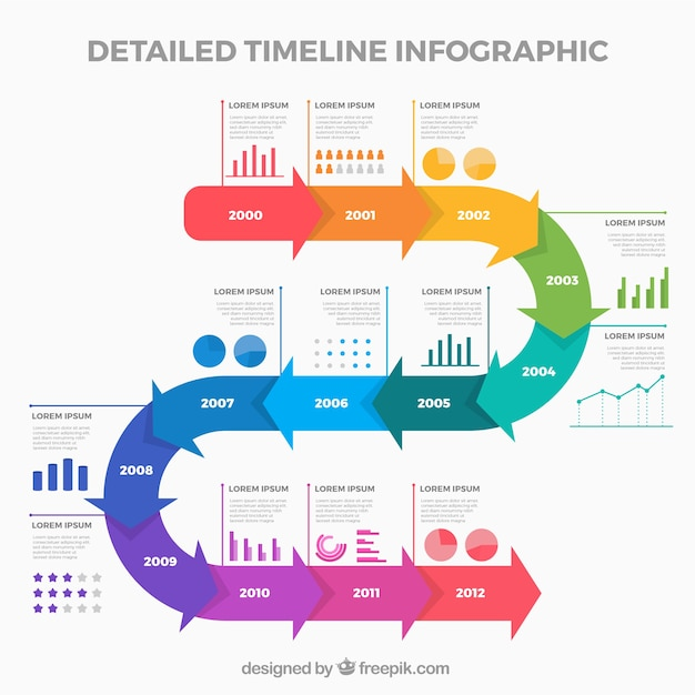 Business timeline template with infographic style Vector Free Download - timeline template