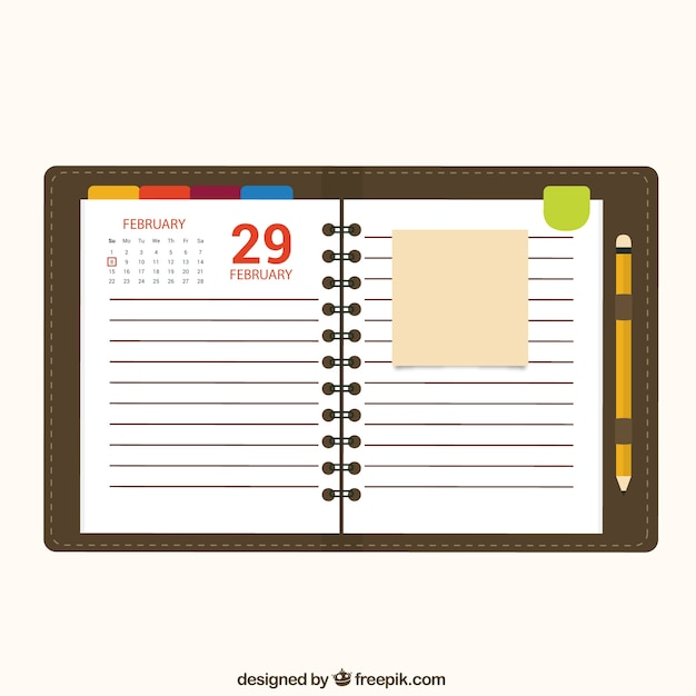Calendar Notebook Paper Vector Free Download - notebook paper download