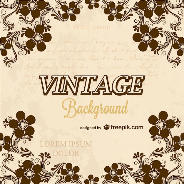 Calligraphy vintage background Vector Free Download