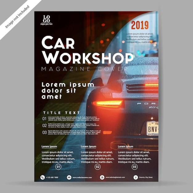 Car Workshop Brochure/Flyer Template Vector Premium Download