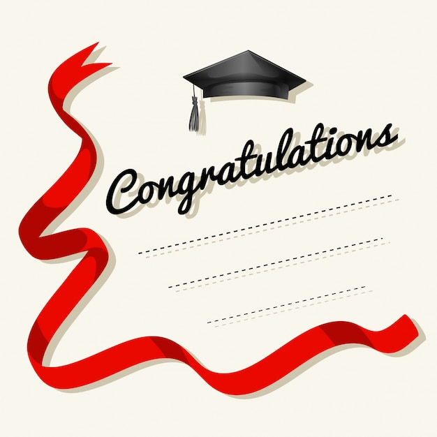 Card template with congratulations word Vector Free Download