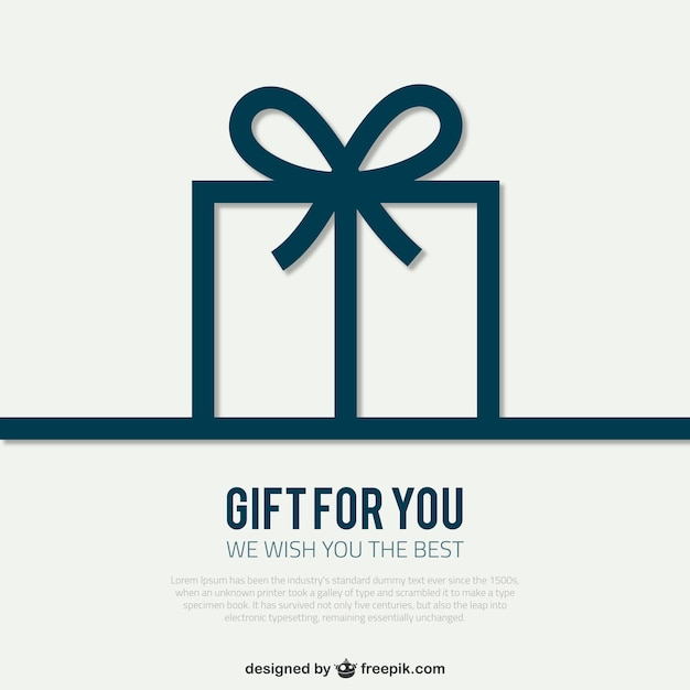 Card template with gift box Vector Free Download - gift box templates free download
