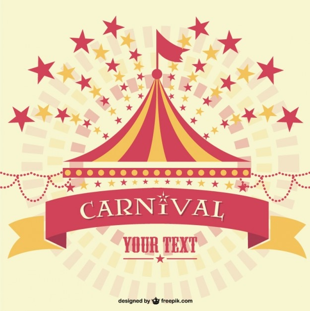 Carnival marquee background template Vector Free Download - free carnival sign template