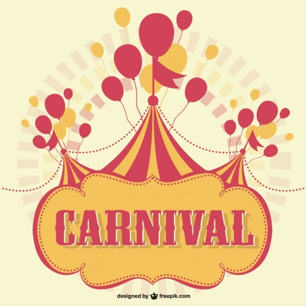 Carnival marquee with balloons background Vector Free Download - free carnival sign template